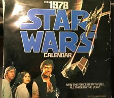 1978 Star Wars Calendar 12x12.5 May The Force Be With You All Through The Year!