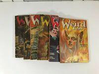 Vintage WEIRD TALES 1939 thru 1949 Pulp Digest Lot of 6 Poor to Fair Condition