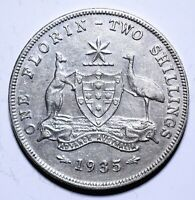 1935 Australia One 1 Florin - George V - Lot 694