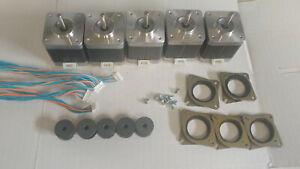 5 x Stepper motor NEMA 17 - 76 oz/in CNC MILL ROBOT REPRAP MAKERBOT GT2 2mm  P5V