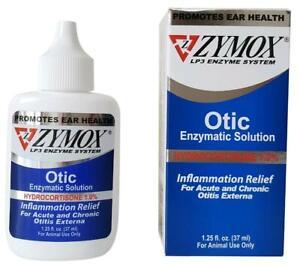 1.25oz Zymox Enzymatic Solution w/1% Hydrocortisone for Dog and Cats