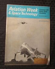 1966 Oct. AVIATION WEEK & SPACE TECHNOLOGY Magazine VG+ Hawker Harrier VTOL