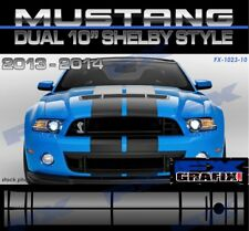 "Ford Mustang GT Rally Stripe Kit Dual 10"" Dealer Quality Stripes Fit 2013 - 2014"