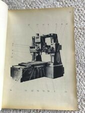 Sip Hydroptic 7 Jig Borer Technical Instructions Manual In French Swiss Made