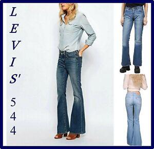 544 jeans levis donna pantaloni a zampa vita bassa bootcut w26 w27 w28 w29 w31