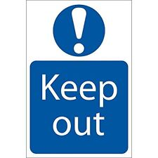 Draper 72913 'Keep Out' Prohibition Sign. Self Adhesive Notice. 400mm x 600mm