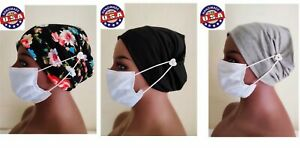 3 Headbands  With Buttons + Free Face/Mouth/Nose  Headband For Nurses