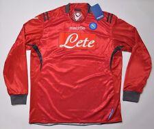 SSC Napoli Nápoles camiseta XL Jersey portero Macron 2010-11 Goalkeeper Lete rojo