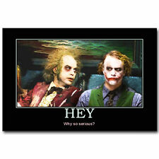 Joker and Beetlejuice Tim Burton Movie Art Silk Poster 24x36inch