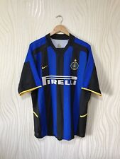 INTER MILAN 2002 2004 HOME FOOTBALL SHIRT SOCCER JERSEY NIKE VINTAGE BLUE
