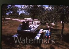 1960s kodachrome Photo slide Lunch Picnic Blue Mounds state park MN