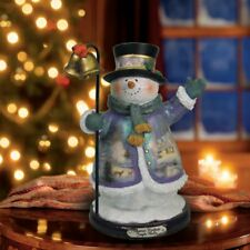 Thomas Kinkade Figurine - JINGLE BELLS Snowman New Item 1513888010 COA