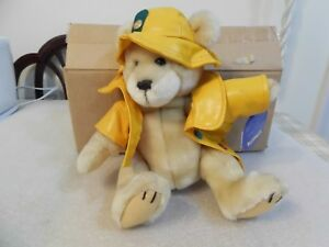 """Vtg 1996 Brass Button Bear Collection 10"""" Harper-Fully Jointed Bear"""