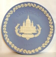 1972 Wedgwood Christmas Blue Jasper ware Plate, St. Paul's Cathedral, England