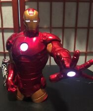 "Marvel Avengers Assemble 8"" IRON MAN Interactive Hero - Motion Sensor & Lights"