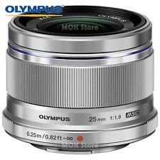 Olympus M.ZUIKO DIGITAL 25mm F1.8 Lens Silver