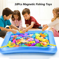 18Pcs/ Set Baby Kids Magnetisches Fischbad Duschstange Angeln Kleinkindspielzeug