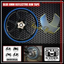 BLUE REFLECTIVE RIM TAPE WHEEL STRIPE TRIM CAR BIKE BICYCLE DECAL 16 17 18 19
