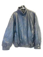 Vintage St Johns Bay Leather Jacket Men's Size XL Black Cell Phone Pocket