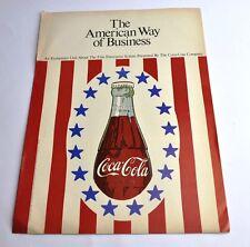 COCA COLA COKE opuscolo USA 1967-The American way of Business