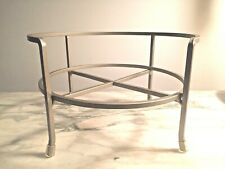 """Crate and Barrel Drink Dispenser Stand Silver Metal 9"""" w x 5.5"""" h"""