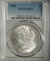 1889-P  $1 MORGAN SILVER DOLLAR PCGS MS62 #41018359  NICE MINT STATE COIN!