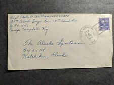 Apo 446 Camp Campbell, Ky 1944 Wwii Army Cover 125th Armored Engr Bn, 14th Div