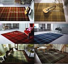 Tartan Rug Glen Available In Six Different Colours Sizes & Runner