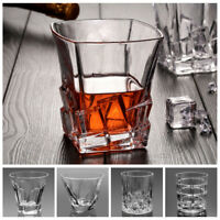 Bar Crystal Twist Irish Whiskey Glass Tumblers Cocktail Glass Cup Hand-engraved