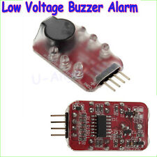 7.4V-11.1V 2S-3S Cell Lipo Battery low voltage Alarm Buzzer Speaker LED indicat