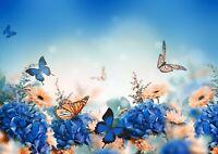 Beautiful Butterflies Poster Print Size A4 / A3 Floral Art Poster Gift #8568