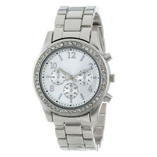 Elegant Lady Women's Stainless Steel Crystals Watches Wrist Watch Free Hot Cute