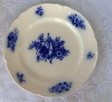 Boch La Louviere Belgium Plate - Blue Floral on White  -. (104)