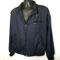 Vintage Members Only Men's Navy Blue Jacket Size Large