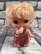 "Vintage 70s Sekiguchi 4"" Baby Doll Anime Big Eye Hong Kong"