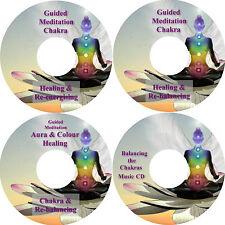 Guided Meditation Chakra & Aura Re-balancing, Energising & Grounding 4 CD Set