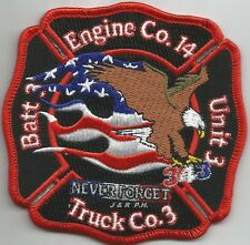"""Memphis  Engine-14 / Truck - 3 / Batt. - 3, TN (4.25"""" x 4.25"""" size) fire patch"""