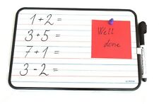 Kids Double Sided Magnetic Whiteboard with Pen, A4 Sized