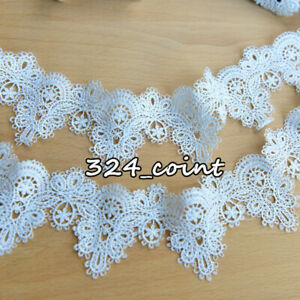 70cm,Lace Trim Ribbon For Dress Skirt Veil Embroidered DIY Sewing Crafts