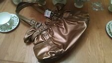 Ladies Handbag New...Soft Feel..Gold....Wilsons Leather