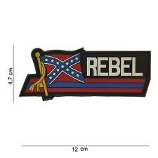 Rebel US Patch Klett Logo Airsoft Paintball Tactical Softair