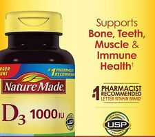 Nature Made® Vitamin D3 1000 IU, 650 Softgels D3 FREE SHIPPING