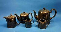 Vintage EPNS 5 Piece Tea Coffee Sugar Milk Original Set  Hard Soldered Sheffield