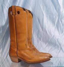 "Double Scallop 15"" DURANGO Light Brown Buckaroo Style Western Cowboy Boots Sz 8D"