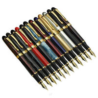 Jinhao X450 Luxury Metal Gold Clip Fountain Pen Push Fine Nib 0.5mm Writing Gift