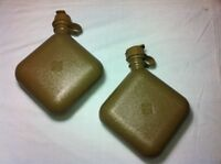 CANTEEN WATER COLLAPSIBLE 2 QT 4 QUART ARMY USMC OD X2 MOLLE ALICE BLADDER CAMP