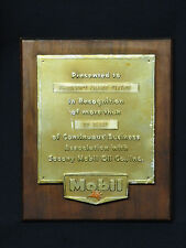 Vintage Socony Mobil Oil Co Pegasus Years of Service / Business Plaque