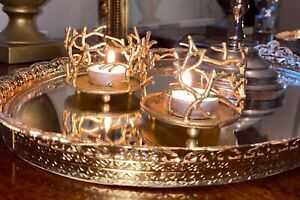 Lovely Gold effect  Tea  Candle Holder