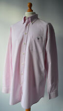 Men's Pink & White Oxford Gingham Checked Gant Long Sleeved Shirt Size 2XL.