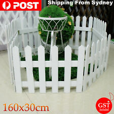 160x30cm Wooden Garden Picket Wicket Fence Panels Lawn Border Edging Fencing AU